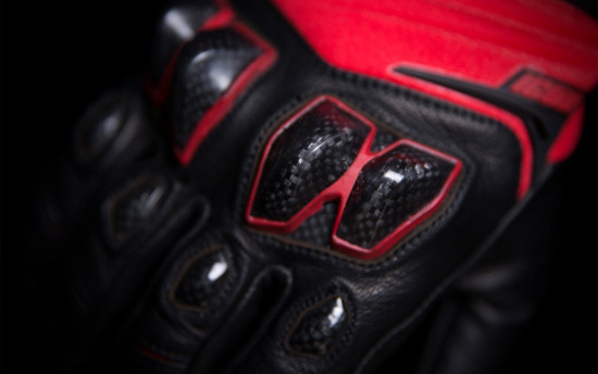 Rękawice Motocyklowe ICON KONFLICT Red